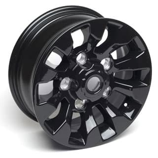 "Sawtooth Alloy Wheel 16"" x 7"" Black for Defender 