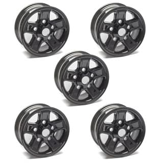 ALLOY ROAD WHEEL 7 x 16 DEFENDER BOOST 5 SPOKE -BLACK  SET OF 5