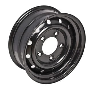 "WOLF HEAVY DUTY STEEL WHEEL IN BLACK 16"" X 6.5"" -PROLINE"