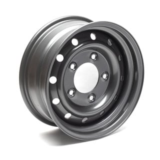WOLF HEAVY DUTY STEEL WHEEL IN ANTHRACITE 16""