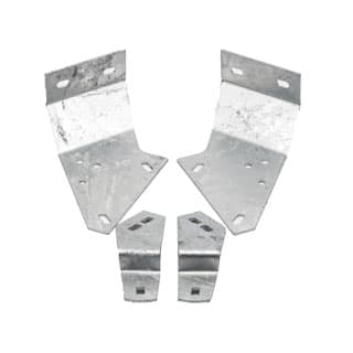 GALVANIZED BRACKET SET FOR MOUNTING  BULKHEAD TO CHASSIS DEFENDER