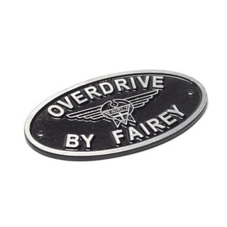 Overdrive By Fairey Cast Aluminum Oval Badge Black