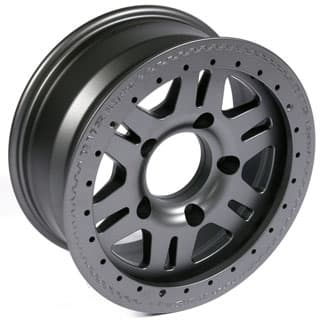 """PERFORMANCE 7"""" X 16"""" ALLOY WHEEL BY TERRAFIRMA IN ANTHRACITE"""