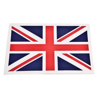 "Decal Union Jack 2.85"" X 4.375"""