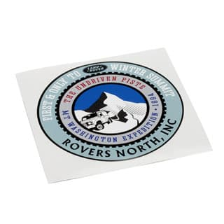 "Decal Mt Washington Expedition 4"" Round"