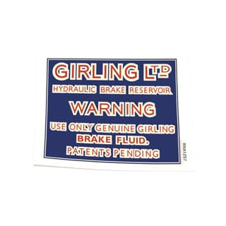 DECAL GIRLING BRAKE FLUID