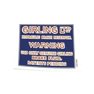 DECAL GIRLING BRAKE FLUID