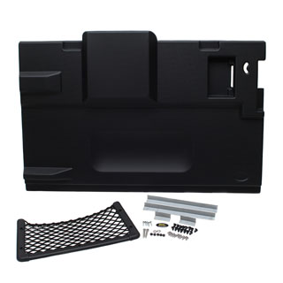 REAR MOULDED INTERIOR DOOR PANEL ASSEMBLY IN BLACK FOR DEFENDER