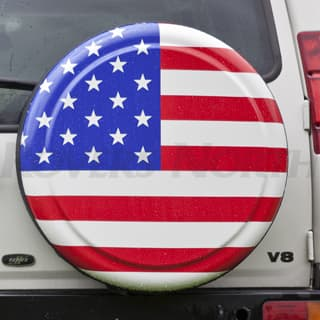 "Rigid Tire Cover 32"" American Flag"