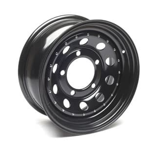 "Modular Heavy Duty Steel Wheel 16"" x 7"" in black for Defender 