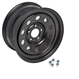 "Vented 16"" X 8"" Heavy Duty Steel Wheel Finished in Satin  Black Discovery II"