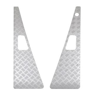 Wing Top Protector Set With LH Aerial in Anodized Silver for Defender