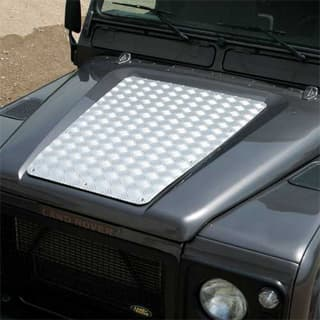 BONNET PROTECTION PLATE DEFENDER UP TO 2007 SILVER