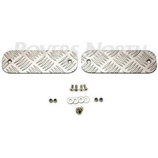 Chequer Plate Front Bumper Pair Silver Defender 90/110