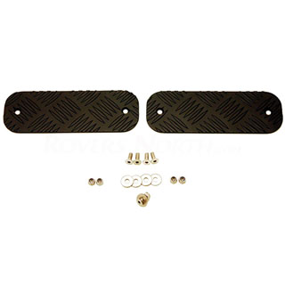 CHEQUER PLATE FRONT BUMPER  PAIR BLACK