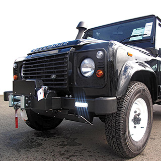 MANTEC WINCH BUMPER FOR  DEFENDER WITH DAYTIME RUNNING LIGHTS - LIMITED QUANTITY