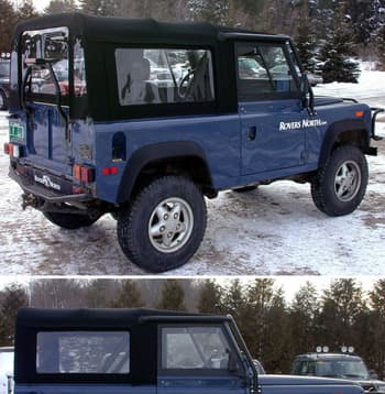 DEFENDER 90 SOFT TOP - FULL STYLE - BLACK