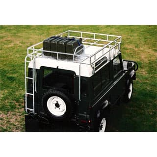 H.D. BROWNCHURCH ROOF RACK - GALVANIZED WITH FUEL CAN MOUNTS AND LADDER