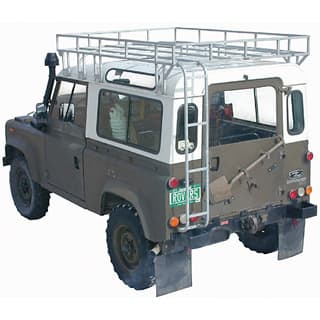 "HEAVY DUTY BROWNCHURCH ROOF RACK 88"" & 90 GALVANIZED WITH REAR ACCESS LADDER"