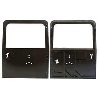 REAR DOOR WITH BRACKET HOLES FOR SPARE WHEEL - DEFENDER