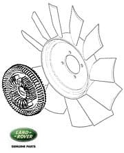 VISCOUS DRIVE - ENGINE FAN '87-'92 V-8 EFI w/11 BLADE