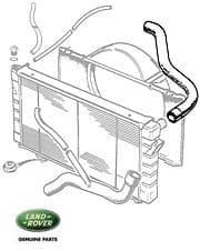 HOSE RADIATOR TOP-ENGINE RANGE ROVER CLASSIC & DISCOVERY I V-8 FROM (V)MA098380
