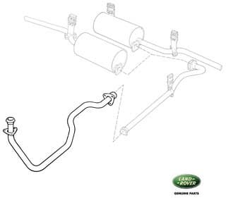 FRONT PIPE 2.25 LITER PETROL 88 & 109 - GENUINE