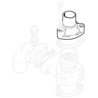 HOUSING THERMOSTAT 4 CYL