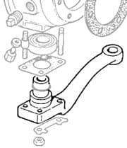 Steering Arm RH  Series IIA & III New/Old Stock
