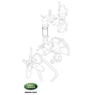 RADIATOR HOSE - THERMOSTAT BYPASS SERIES II-III
