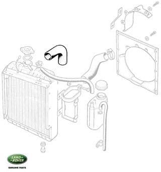 Radiator Hose - Top Late Series IIA & III 4 Cylinder
