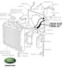 Bottom Hose Radiator 2.6L 6 Cyl Series IIA & III