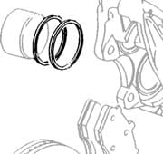 Seal Kit Front Caliper Defender