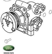 COMPRESSOR ASSEMBLY A/C RANGE ROVER P38A FROM XA410482 & DISCOVERY II