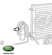 SWITCH - PRESSURE 134A A/C REC/DRYER ON/OFF P38A RANGE ROVER