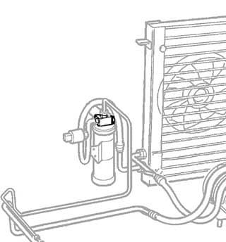 Pressure Switch - A/C R/R P38a 4.0/4.6 Ltr
