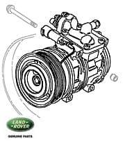 Compressor  A/C 4.0/4.2L V-8 Defender, Discovery I & RRC