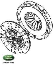 Pressure Plate & Disc Discovery I 3.9L &