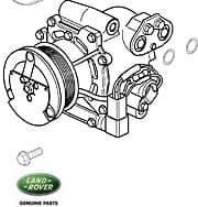 Dust Cover - A/C Compressr P38a Range Rover