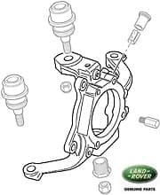 Front Axle Steering Knuckle, Swivel ABS Hub RH, R/R P38a