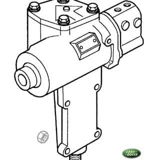 Rebuilt Steering Box R/R P38a LHD w/Powere Steering