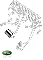 Pedal Pad - Brake Pedal Range Rover P38a Automatic