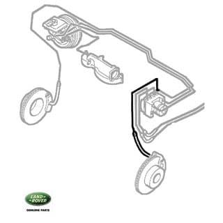 Flex Hose - LHF Wheel Discovery II