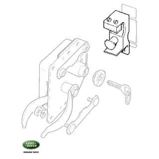 ANTI-BURST STRIKER LATCH RH - GENUINE