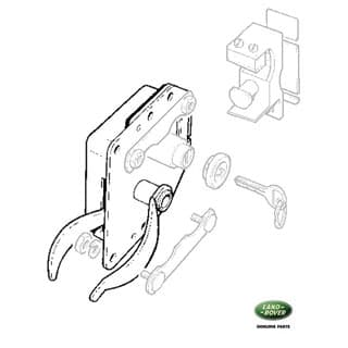 Door Latch  Front Ser.Iii & Defender LH