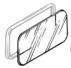 GLASS ALPINE WINDOW CLEAR - NLA