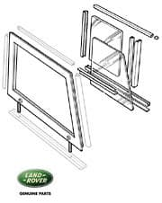 Door Top Assembly RH Ser II-III Clear Glass