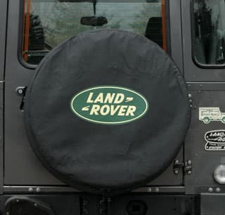 TIRE COVER, LAND ROVER LOGO, STANDARD