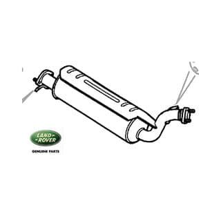 Exhaust Muffler Intermediate P38a Range Rover V-8 w/Catalyst