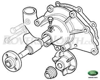 WATER PUMP 4 CYL D & P SERIES IIA & III